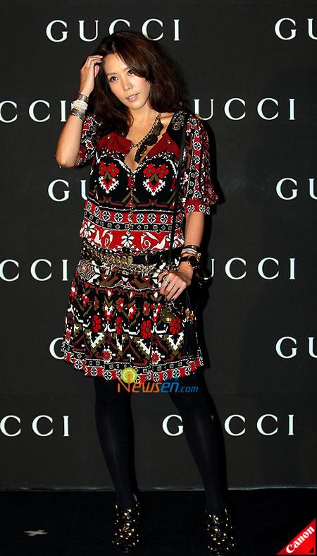 Korean actress Kim Jung-eun at Gucci 0809 FW Collection in Seoul