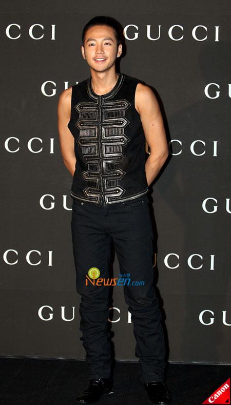Korean actor Jang Geun-suk at Gucci 0809 FW Collection in Seoul