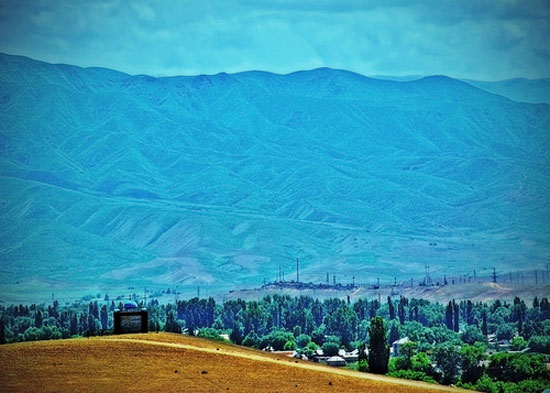 Mountains and hills in Central Asia