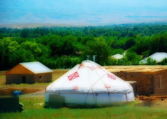 Yurt tent in Central Asia