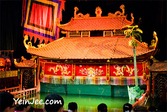 Water puppet show at Thang Long Water Puppetry Theatre in Hanoi, Vietnam