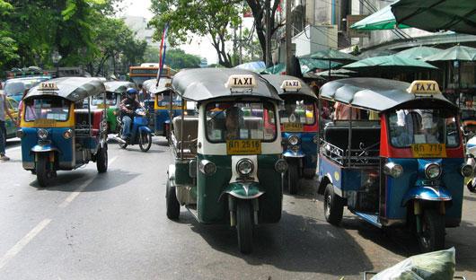 Picture of Tuk Tuk auto-rickshaw in Bangkok, Thailand