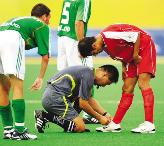 Picture of touching moment in Beijing 2008 Paralympic Games