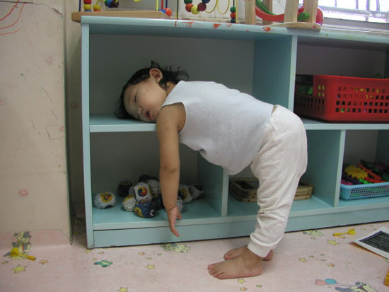 Picture of cute little girl sleeping
