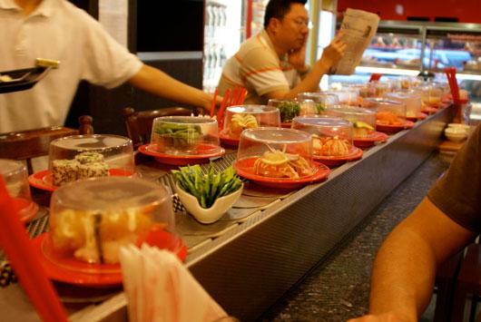 Conveyor belt sushi image by michael stephens