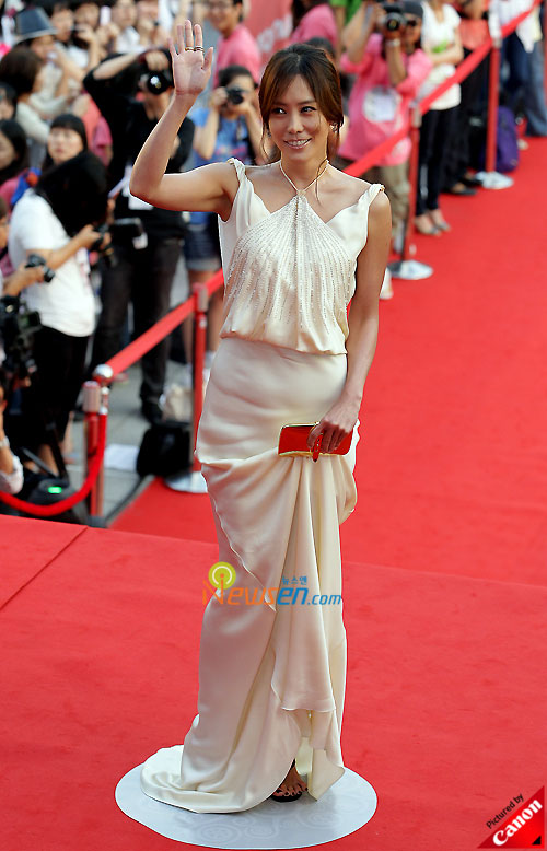 Picture of Korean actress Kim Jung-eun at Chungmuro International Film Festival 2008 in Seoul