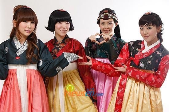 Korean pop group Brown Eyed Girls Chuseok