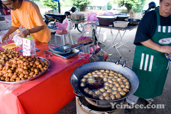 Photo of fried snacks at Ramadan bazaar in Penang, Malaysia