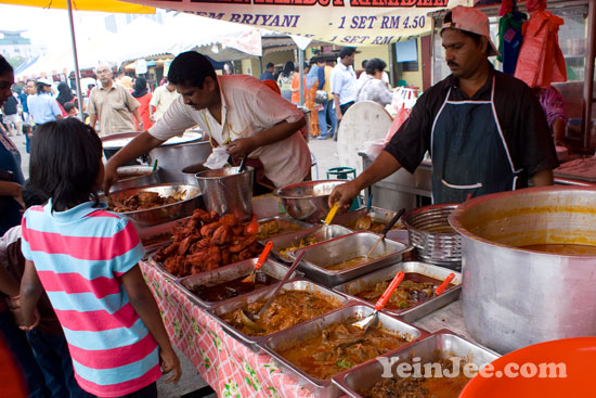Photo of nasi biryani stall at Ramadan bazaar in Penang, Malaysia
