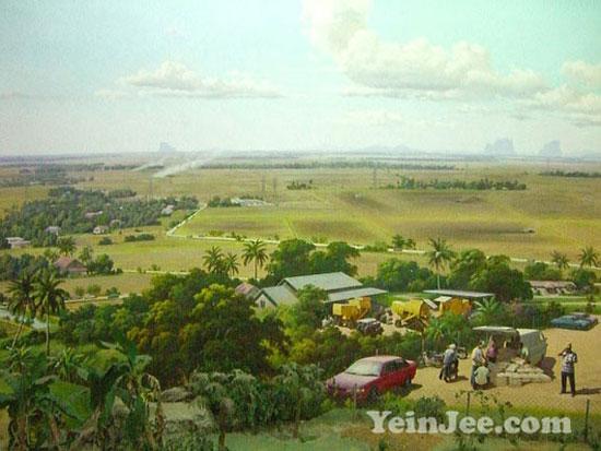 360-degree painting at Muzium Padi Kedah, Malaysia