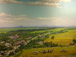 360-degree painting at National Rice Museum in Kedah