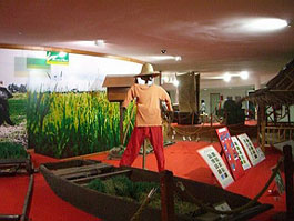 Exhibits at the National Rice Museum in Kedah