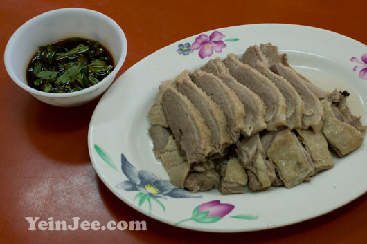 Picture of goose meat at De An restaurant in Fonglin, Taiwan
