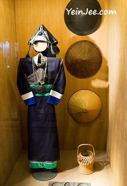 Traditional Vietnamese ethnic costumes at Museum of Ethnology in Hanoi