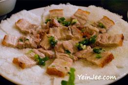 Roast pork at Quan An Ngon restaurant in Hanoi, Vietnam