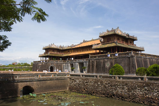 Picture of the Hue Imperial Citadel in Vietnam