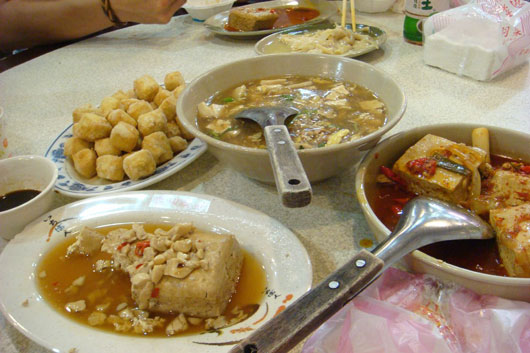 Picture of tofu dishes in Shengkeng, Taiwan