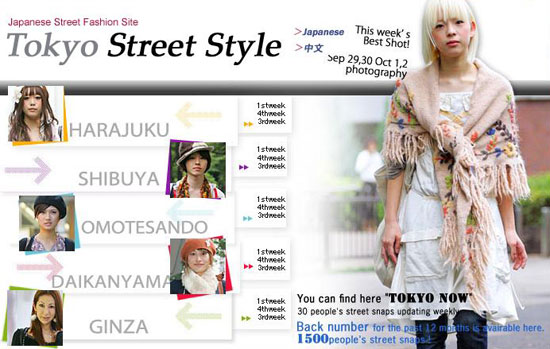Screenshot of Style-arena Japanese street fashion website
