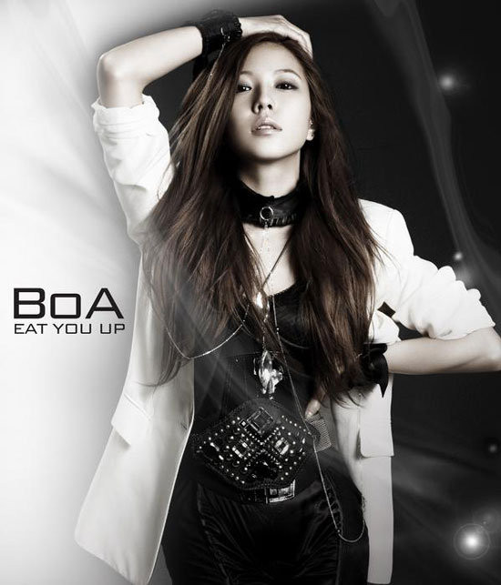 Promotional picture of Korean pop star BoA for American debut single Eat You Up