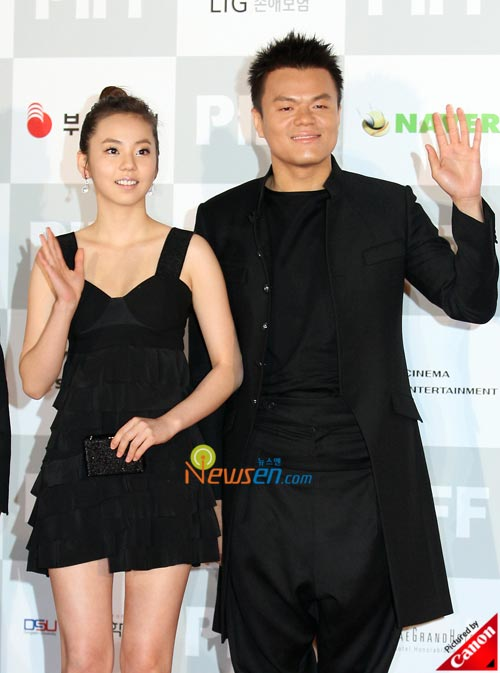 Ahn So-hee and Park Jin-young at Pusan International Film Festival 2008