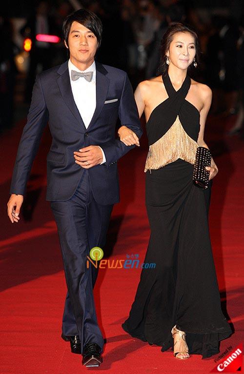 Kim Rae-won and Han Eun-jung at Pusan International Film Festival 2008