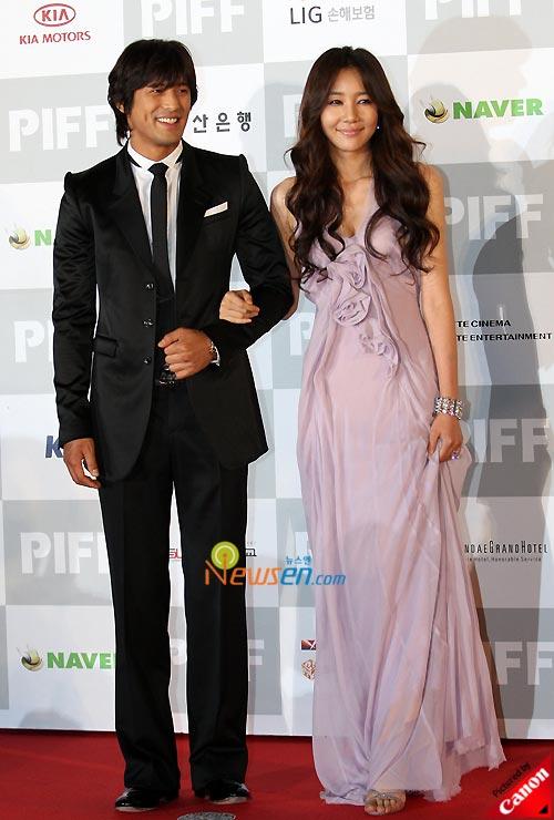 Oh Ji-ho and Yoon Ji-min at Pusan International Film Festival 2008