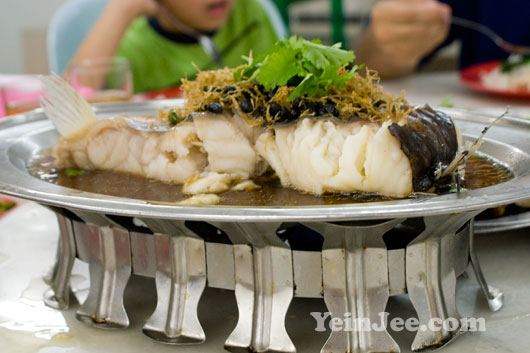 Photo of steamed fresh water fish at Fast Food Fish Head Restaurant in Sri Petaling, Kuala Lumpur