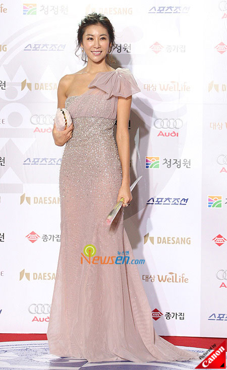 Korean actress Han Eun-jung at Blue Dragon Film Awards 2008 in Seoul