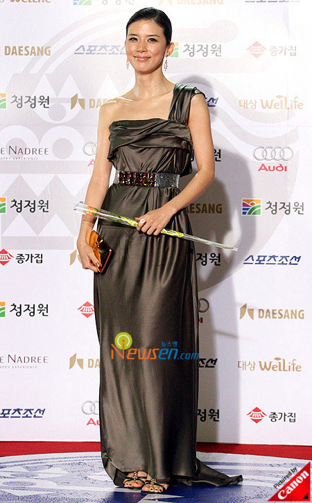 Korean actress Lee Bo-young at Blue Dragon Film Awards 2008 in Seoul
