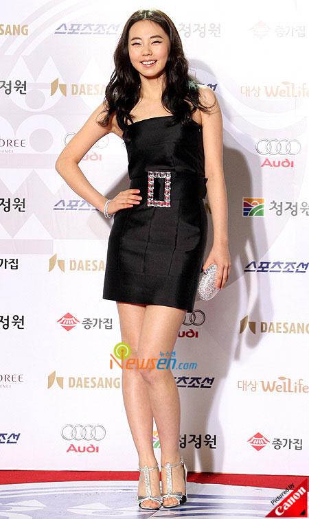 Korean artist Ahn So-hee at Blue Dragon Film Awards 2008 in Seoul