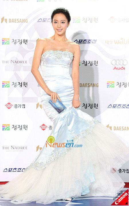 Korean actress Han Yeh-seul at Blue Dragon Film Awards 2008 in Seoul