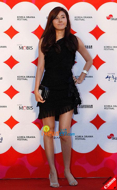 Korean actress Kim Ha-neul at Korea Drama Awards 2008 in South Gyeongsang province