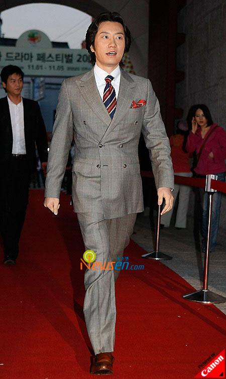 Korean actor Kim Myung-min at Korea Drama Awards 2008 in South Gyeongsang province