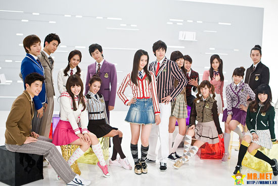 2PM and SNSD for Elite school uniform