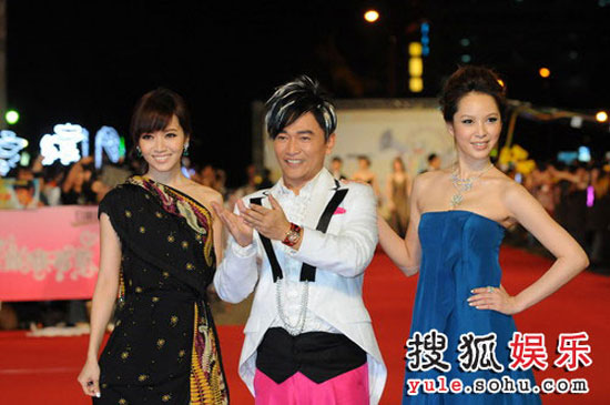 Picture of Taiwanese stars Patty Ho, Jacky Wu and Tian Xin at Golden Bell Awards 2008 in Taipei