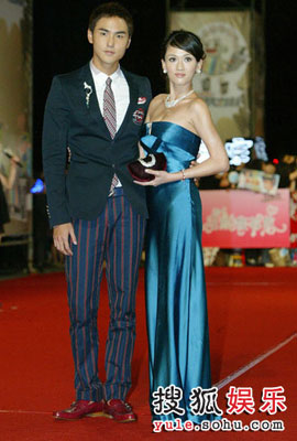 Picture of Taiwanese stars Ethan Ruan and Joe Chen at Golden Bell Awards 2008 in Taipei