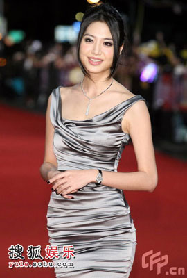 Picture of Taiwanese star Bianca Bai at Golden Bell Awards 2008 in Taipei
