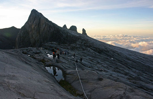 Picture of the peak of Mount Kinabalu in Sabah, Malaysia