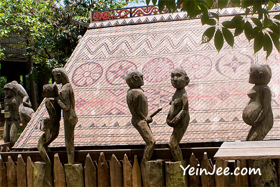 Sexually explicit statues of Giarai Tomb at Museum of Ethnology in Hanoi, Vietnam
