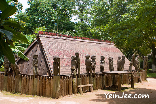 Giarai Tomb at Museum of Ethnology in Hanoi, Vietnam