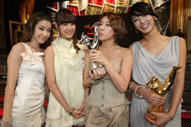 Picture of Korean girls group Jewelry at 23rd Korean Golden Disk Awards in Seoul