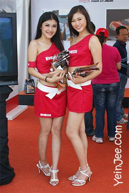 Malaysian showgirls at Super GT Malaysia 2008