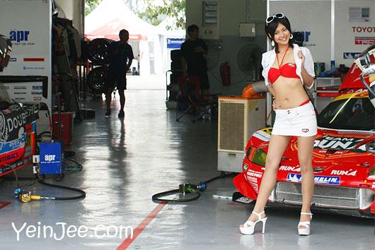 Japanese race queen Miho Miyasaka at Super GT Malaysia 2008