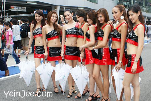 Aston Martin Asia Cup 2008 models at Sepang International Circuit, Malaysia