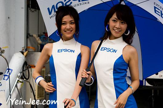 Japanese race queens Satomi Takahashi and Aiko Suzuki at Super GT Malaysia 2008