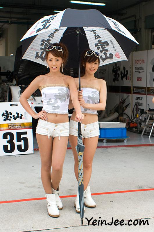 Japanese race queens Aiko Hirayama and Keiko Ohno at Super GT Malaysia 2008
