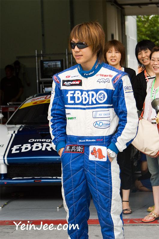 Japanese racer Masaki Matsushita at Super GT Malaysia 2008