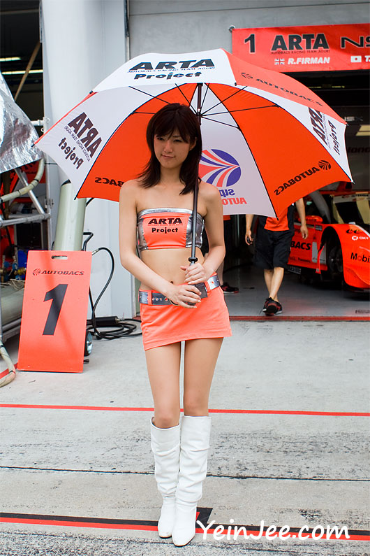 Japanese race queen Rina Kato at Super GT Malaysia 2008