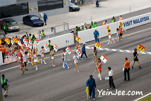 Japanese race queens at Super GT Malaysia 2008