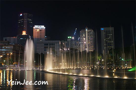 KLCC Park fountain, Kuala Lumpur, Malaysia